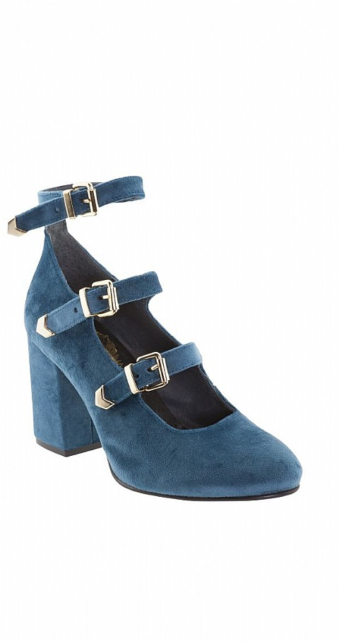 Zapato hebillas Color azul - Highly Preppy