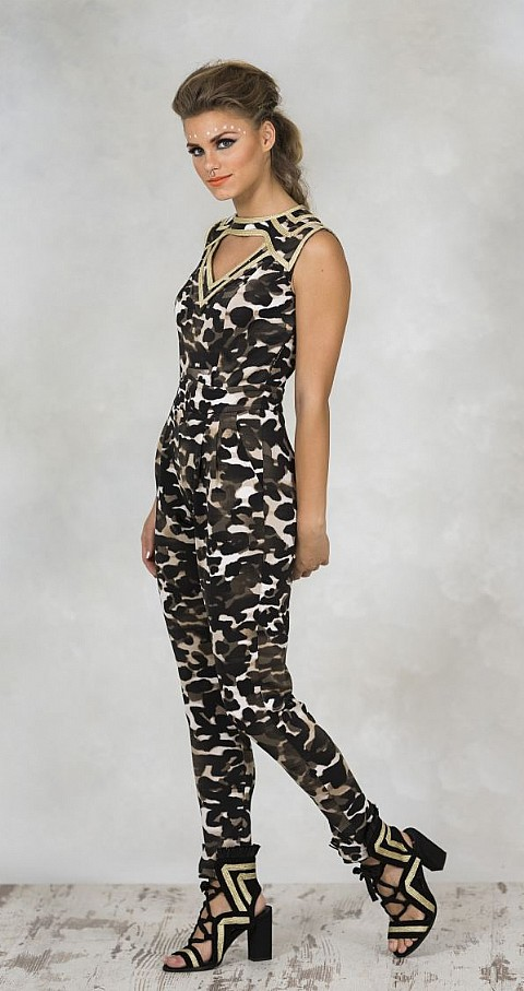 Jumpsuit camuflaje Color tipo - Highly Preppy
