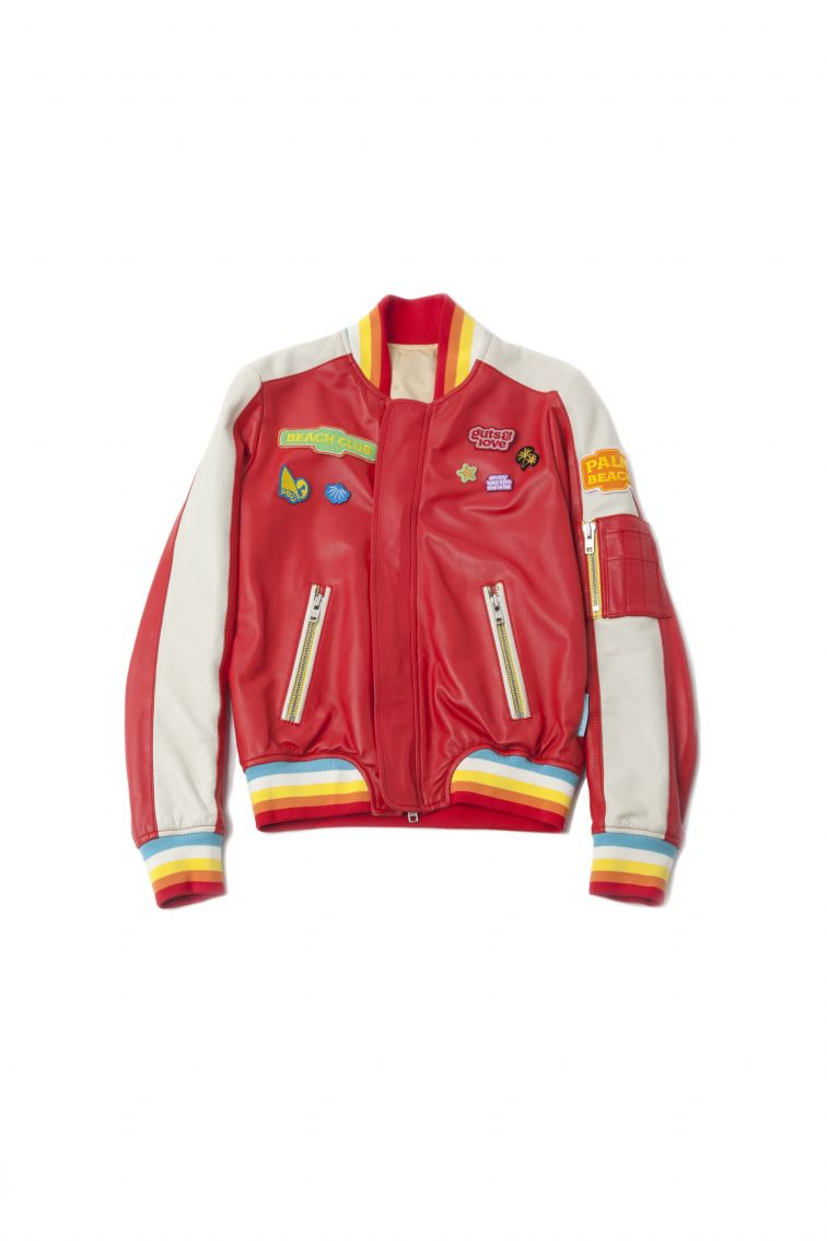 Bomber piel sweet wildness Color rojo