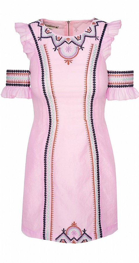 Vestido organza Color rosa - Highly Preppy