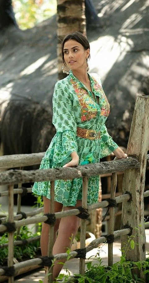 Vestido corto Lonely Color verde - MISS JUNE