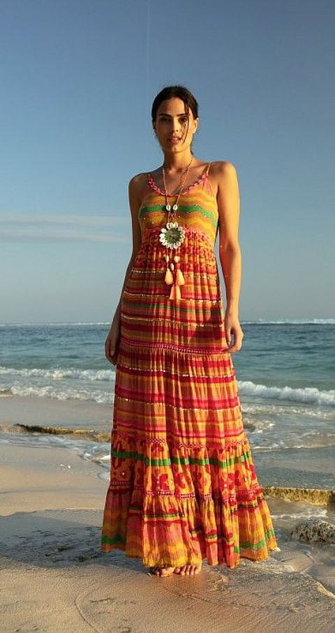 Vestido largo Paraty Color colores - MISS JUNE