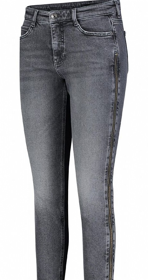 Jeans cremallera lateral skinny just zip Color gris - MAC