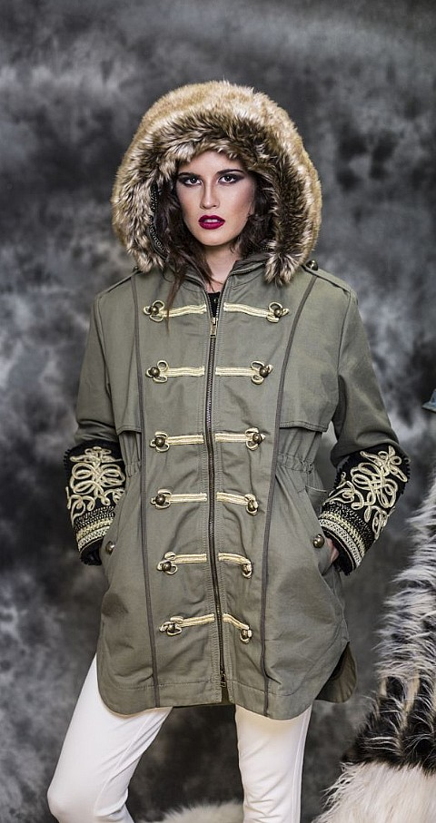 Parka militar Color kaki - Highly Preppy