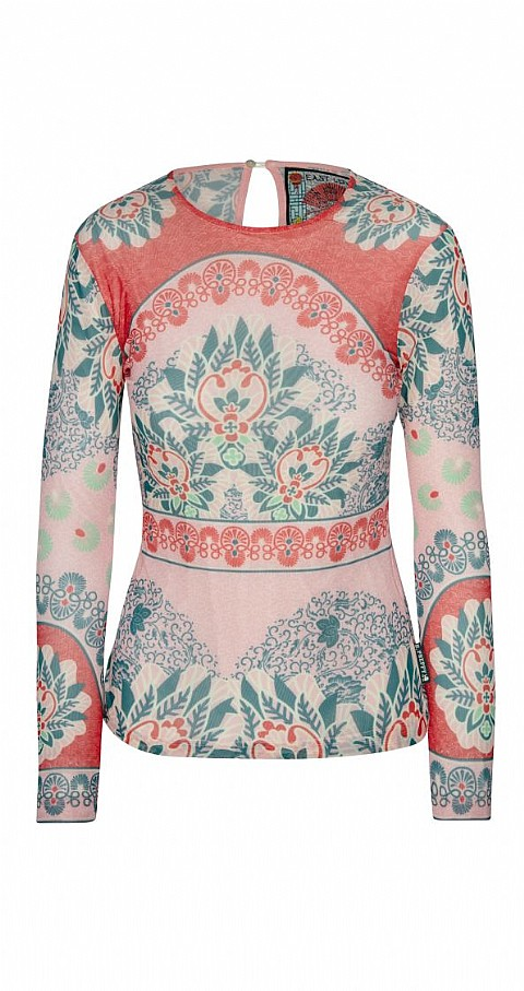 Top tul print Color rosa - Highly Preppy