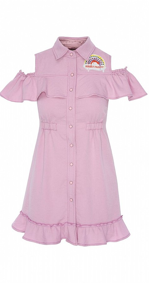 Vestido camisero Color rosa - Highly Preppy