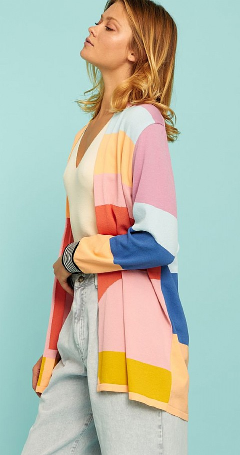 Cardigan rayas Giedi Color colores - Aldo Martins