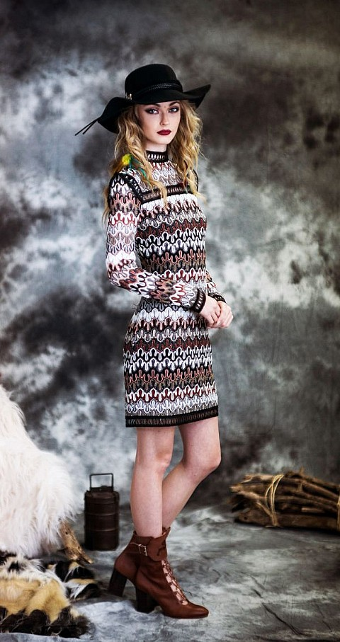 Vestido crochet ondas Color tipo - Highly Preppy