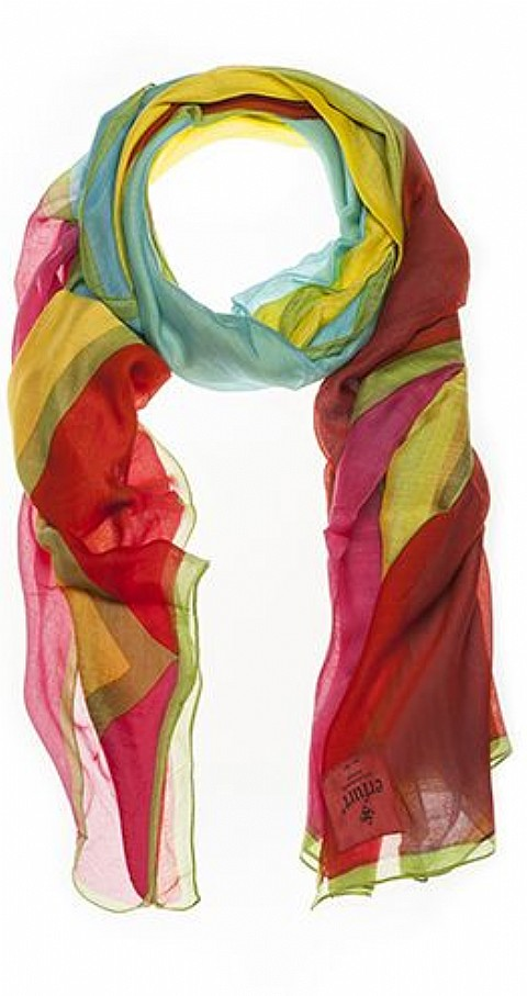 Foulard color blocking Color rosa - ERFURT