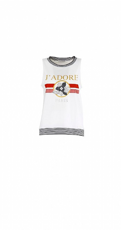 Camiseta J'adore Paris Color blanco - CAFENOIR