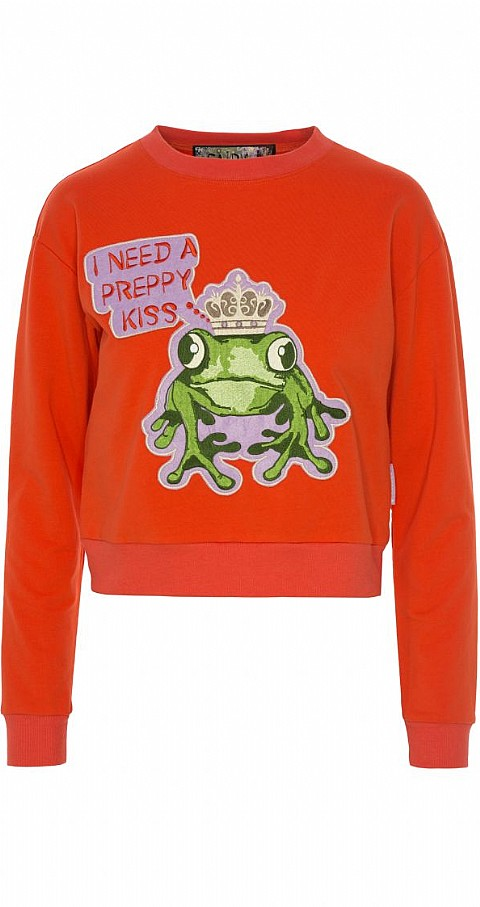 Sudadera frog Color naranja - Highly Preppy