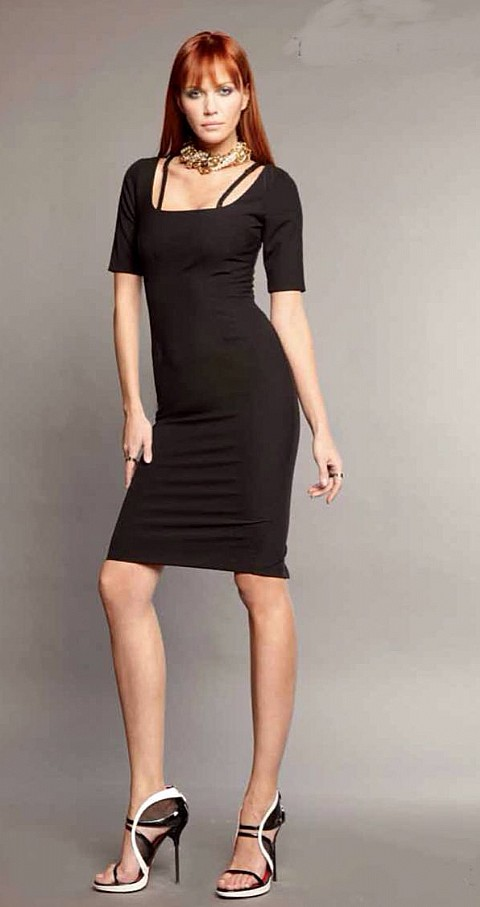 Vestido stretch Color negro - Lunatic