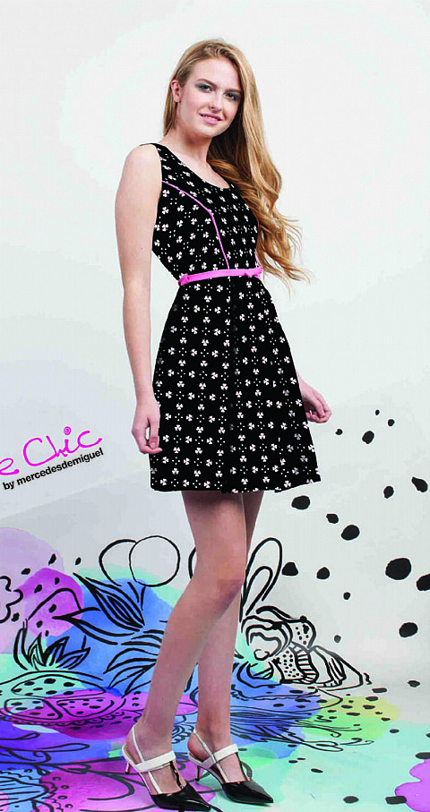 Vestido pink heart Color negro - Poupee Chic